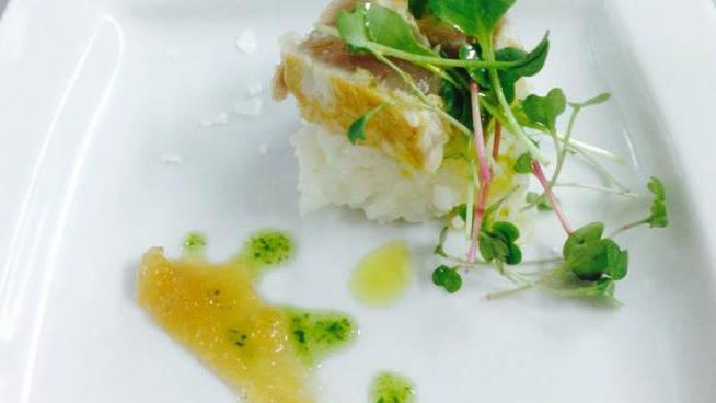 Tataki de pez limon