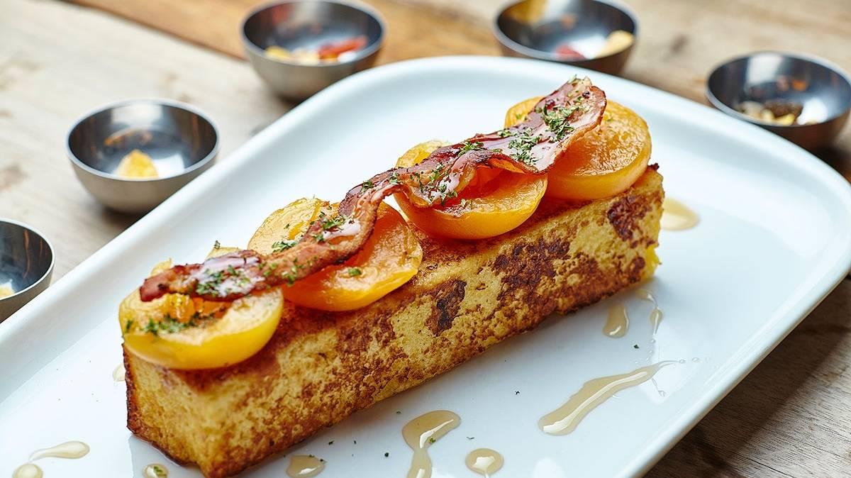Honey apricot crisp bacon eggy bread