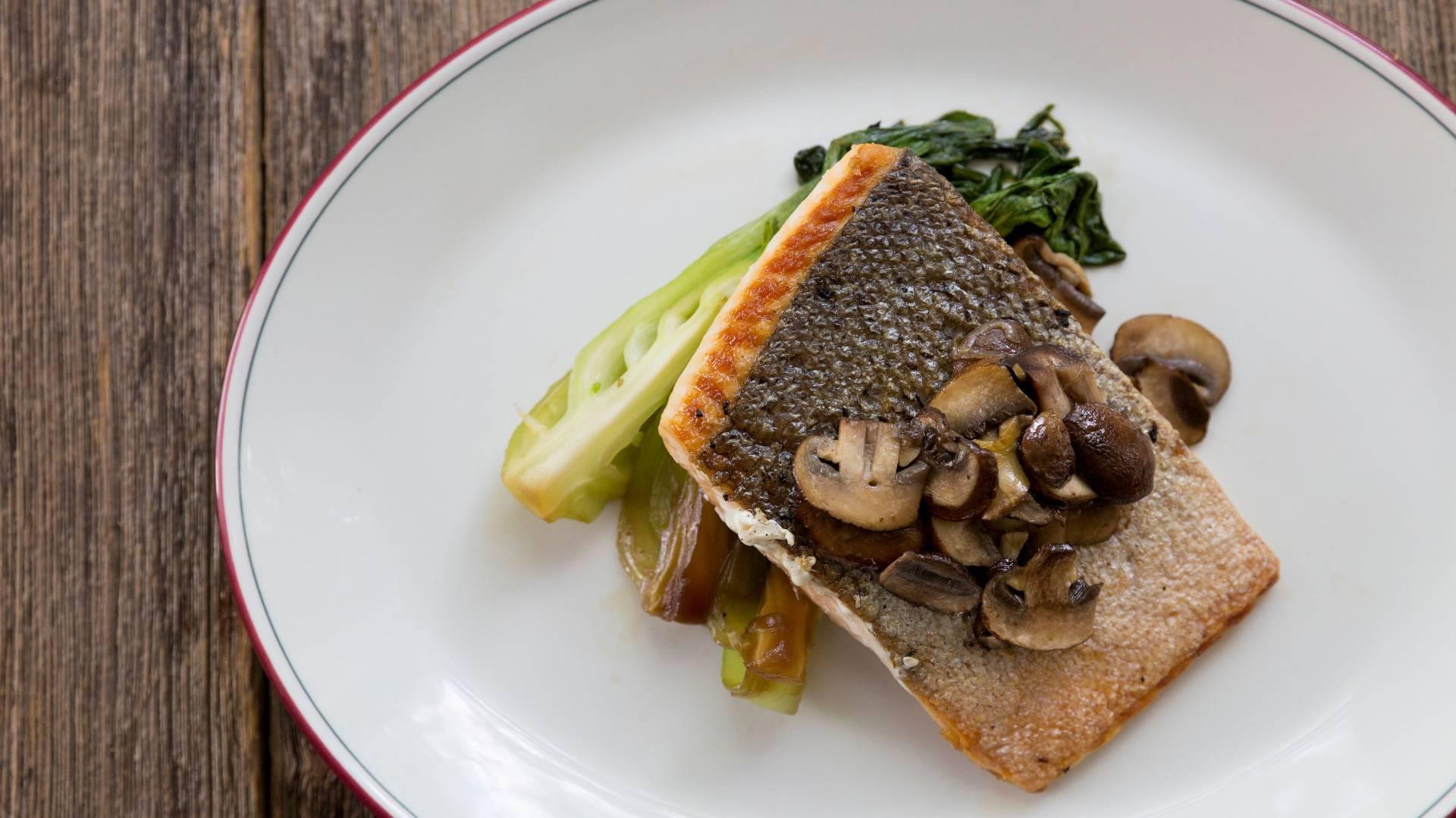 Salmon Mushroom Bok Choy