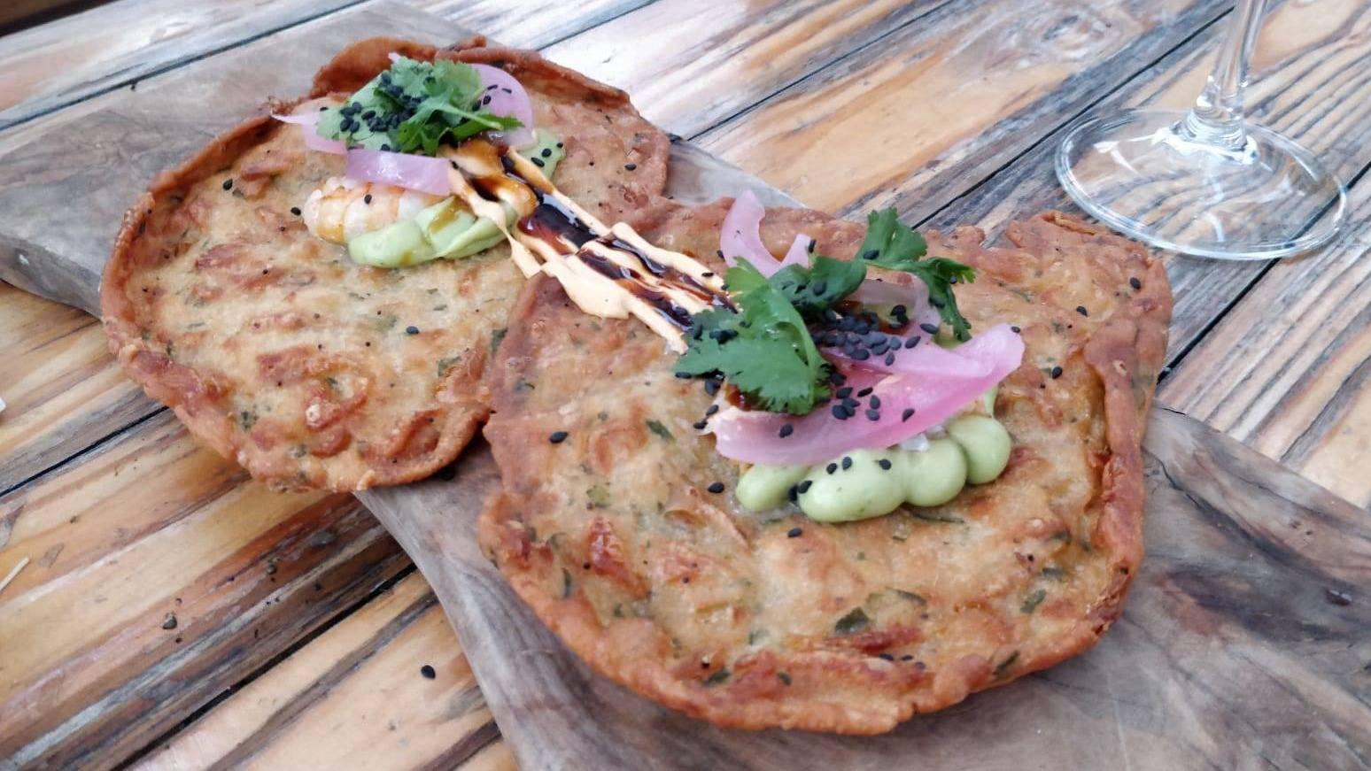 South Crispy Camaron Omelette With wassabi Mayo