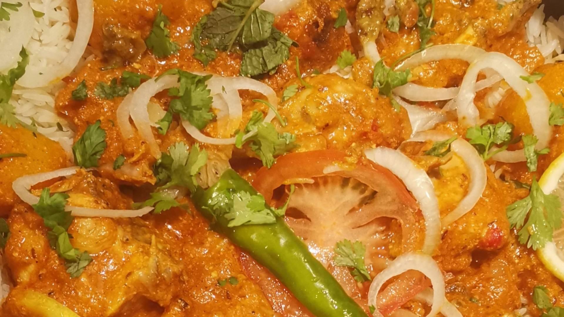 Chicken Biryani in Preparation
