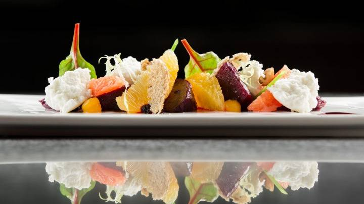 Beet Root Salad with Orange and Goat Cheese