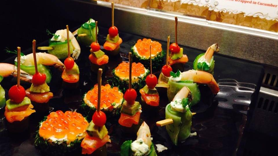 Ssorted canapes