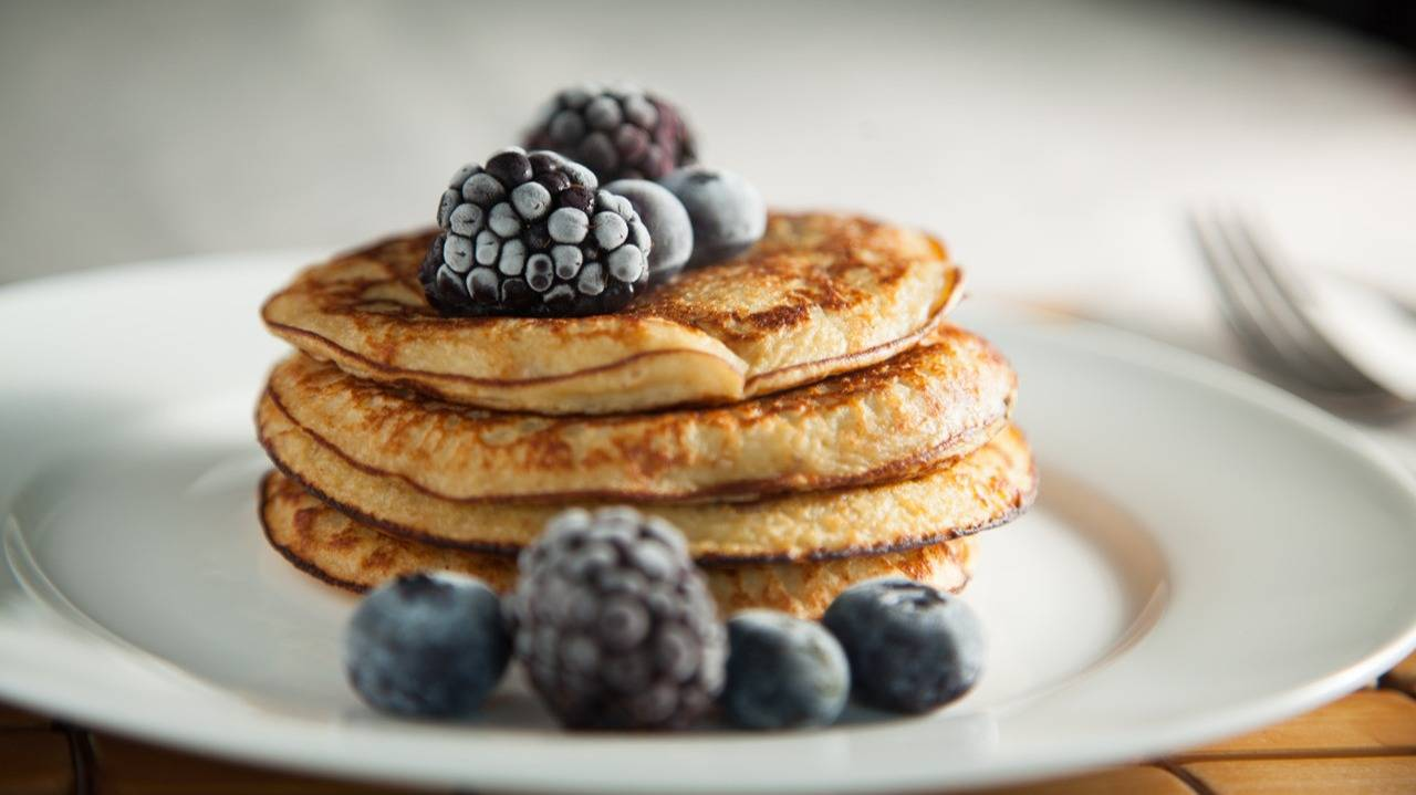 IMG 0023Natural Meal Natural Meal Pancakes Proteina Platano y Frutos Rojos