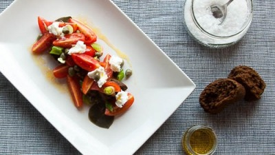 CHERRY TOMATO SALAD WITH CAROB RUSKS & CAPER 9