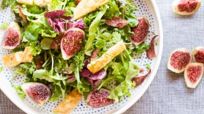 FRESH FIG SALAD RECIPE WITH SMOKED PORK & GRILLED CHEESE (4 of 10)