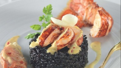 Lobster Squid Ink Risotto