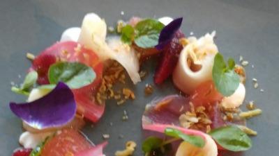 Sushi flower dish