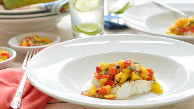 Sea bass with mango salsa mango in pic 1024x680