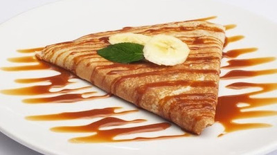 Grepes de chocolate y caramelo