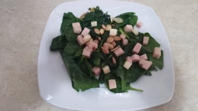 Nsalada de espinacas