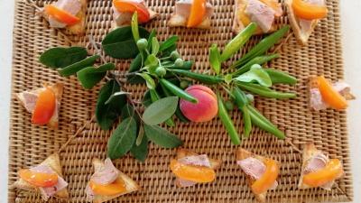 Oie blong chutney abricot pain brioche