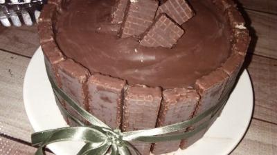 Pastel de galleta y chocolate
