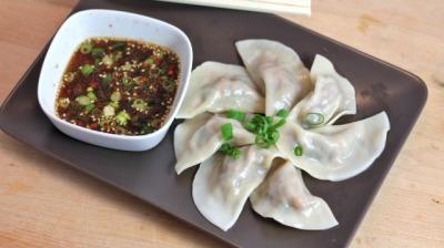 Steamed veg dumpling
