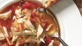 Tomato fennel crab soup