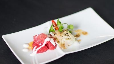 Wellness Salat mit Grapefruit Fenchel Avocado Soya Sesam dressing Joghurt 2