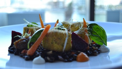 Goats cheese lentil salad