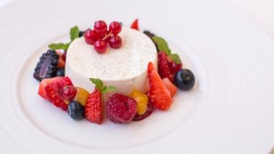 Panna Cotta berries