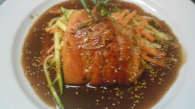 Salmon teiyaky