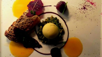 King fish and beetroot