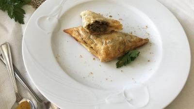 Lenthil mushroom pies