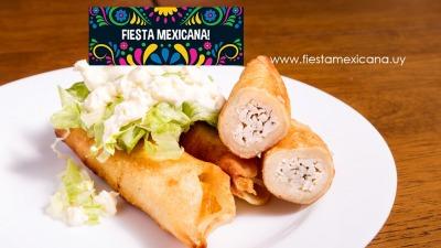 Tacos dorados www fiestamexicana