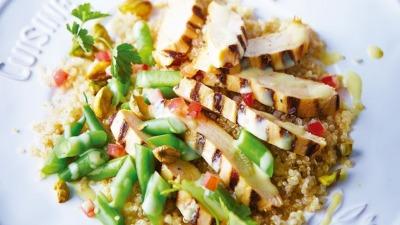 Pollo asado con quinoa
