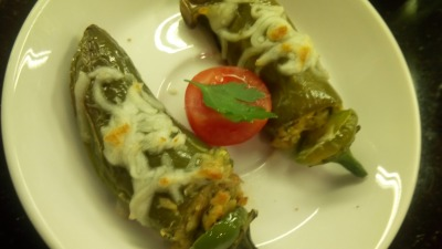 Spicy Stuffed Mini Bell peppers