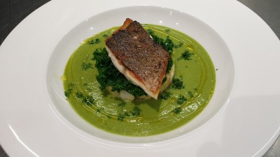 Sea bream rocket parsley veloute
