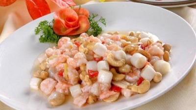 Fried Shrimps and Cashew