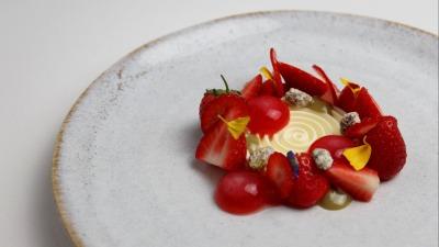 Mascarpone Strawberry Pistachio