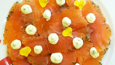 Gravalax Norwegian salmon dill ream