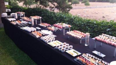 Vento de sushi en boda