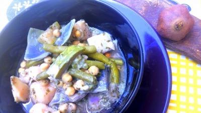 Puchero vegetal ( batata col judías verdes ganbanzo y calabacin )