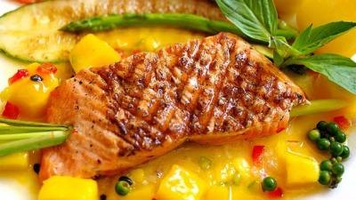 Receta salmon salsa mango 613x342