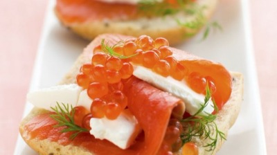 Menu noel salmon appetizer