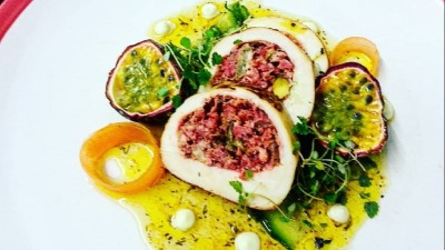 Stuffed chicken with passion