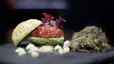 Tartar Burguer con Pan de Wasabi