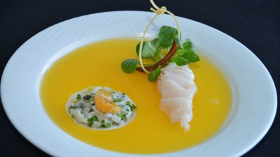 Duo of Scallops clementine