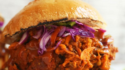 THE BEST 30 minute Vegan Pulled Pork Sandwich Lentils carrots packed with protein vegan glutenfree lentils recipe BBQ plantbased