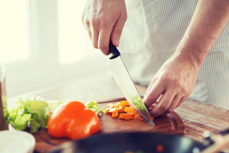 Private Chef in Houston preparing a dish