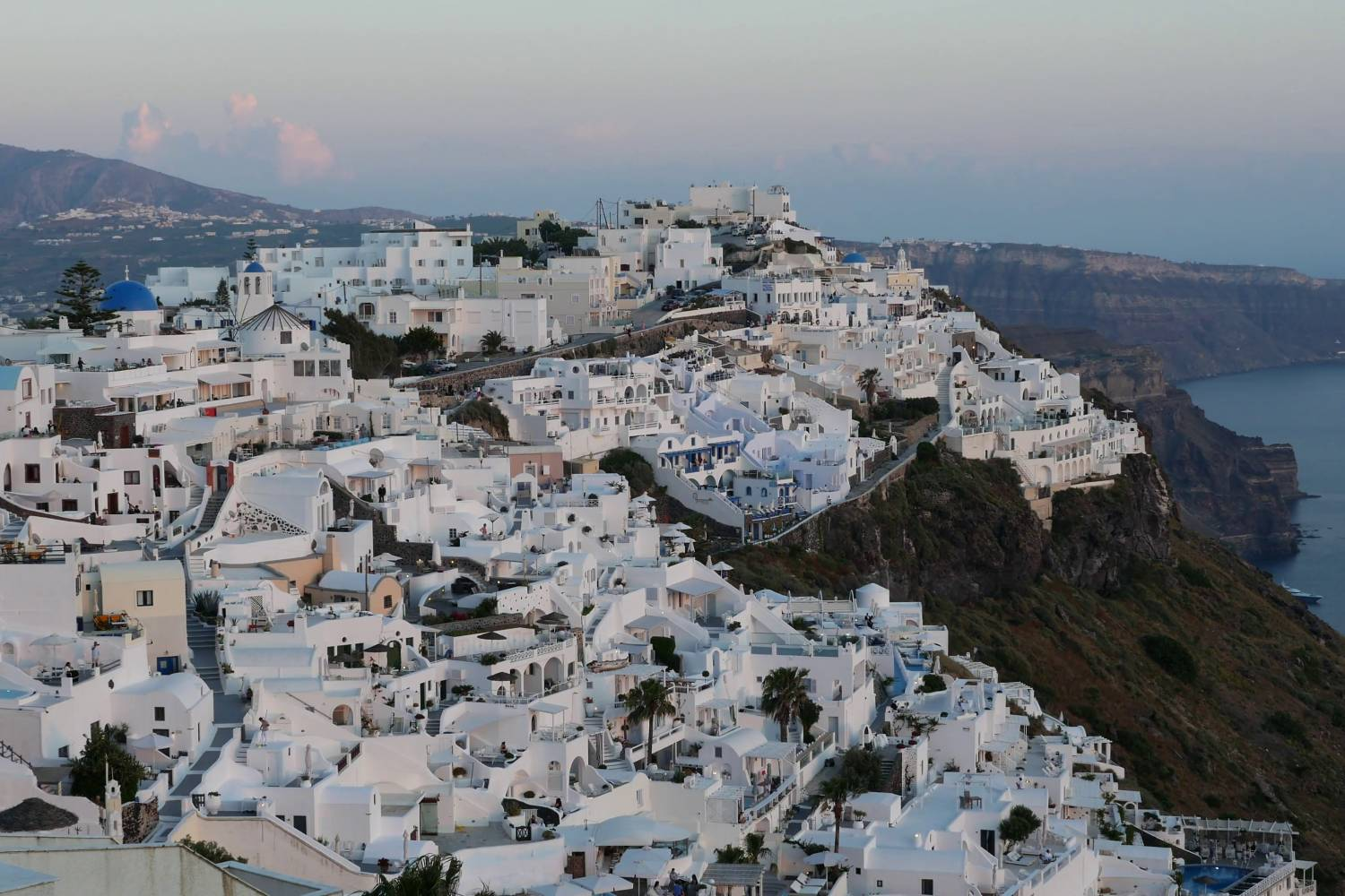 Areal view of Fira- Take a Chef