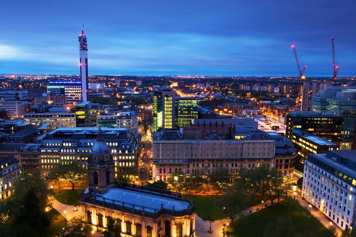 Areal view of Birmingham - Take a Chef