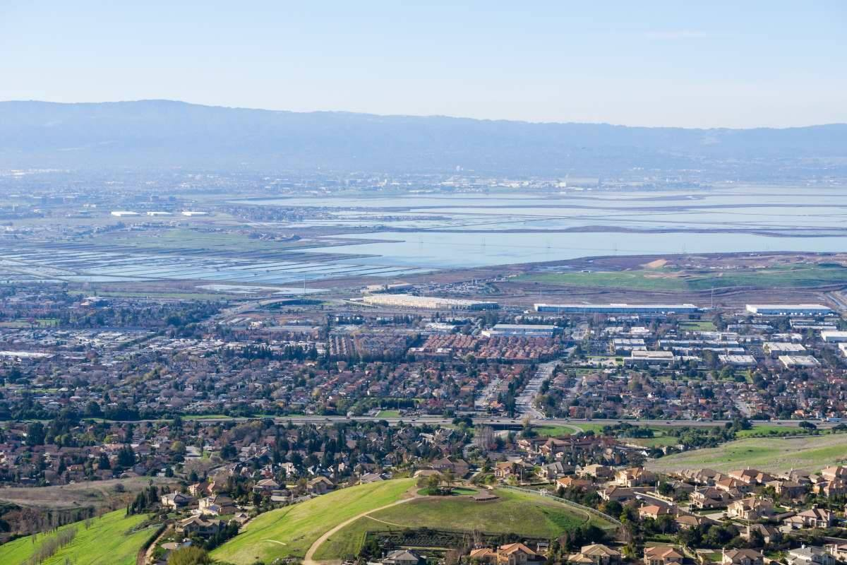 Areal view of Milpitas