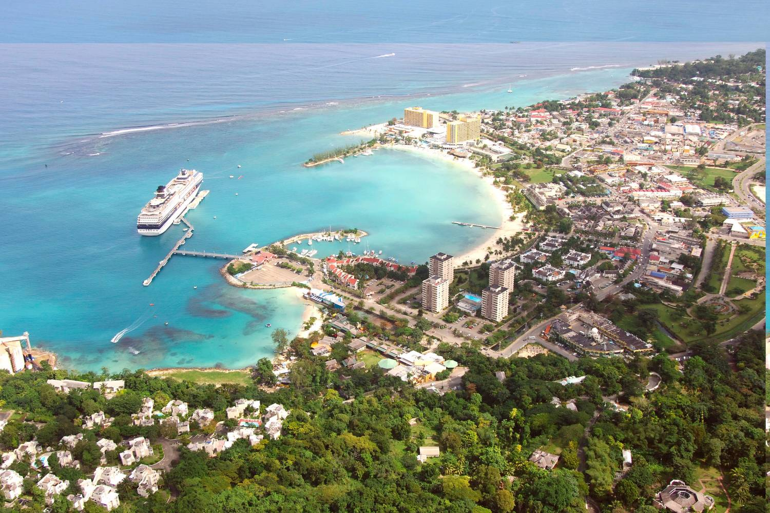Areal view of Ocho Rios - Take a Chef