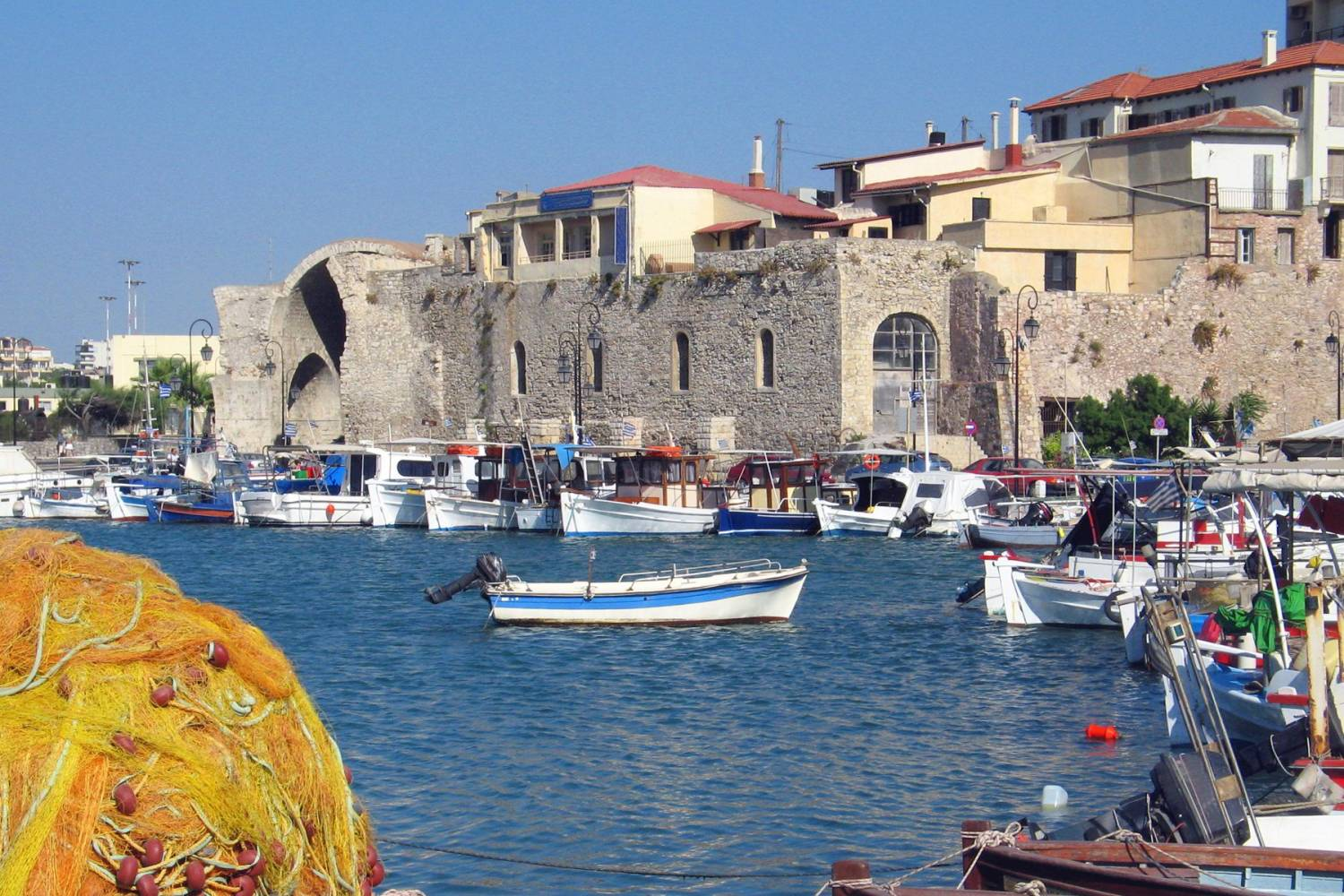 Areal view of Heraklion - Take a Chef
