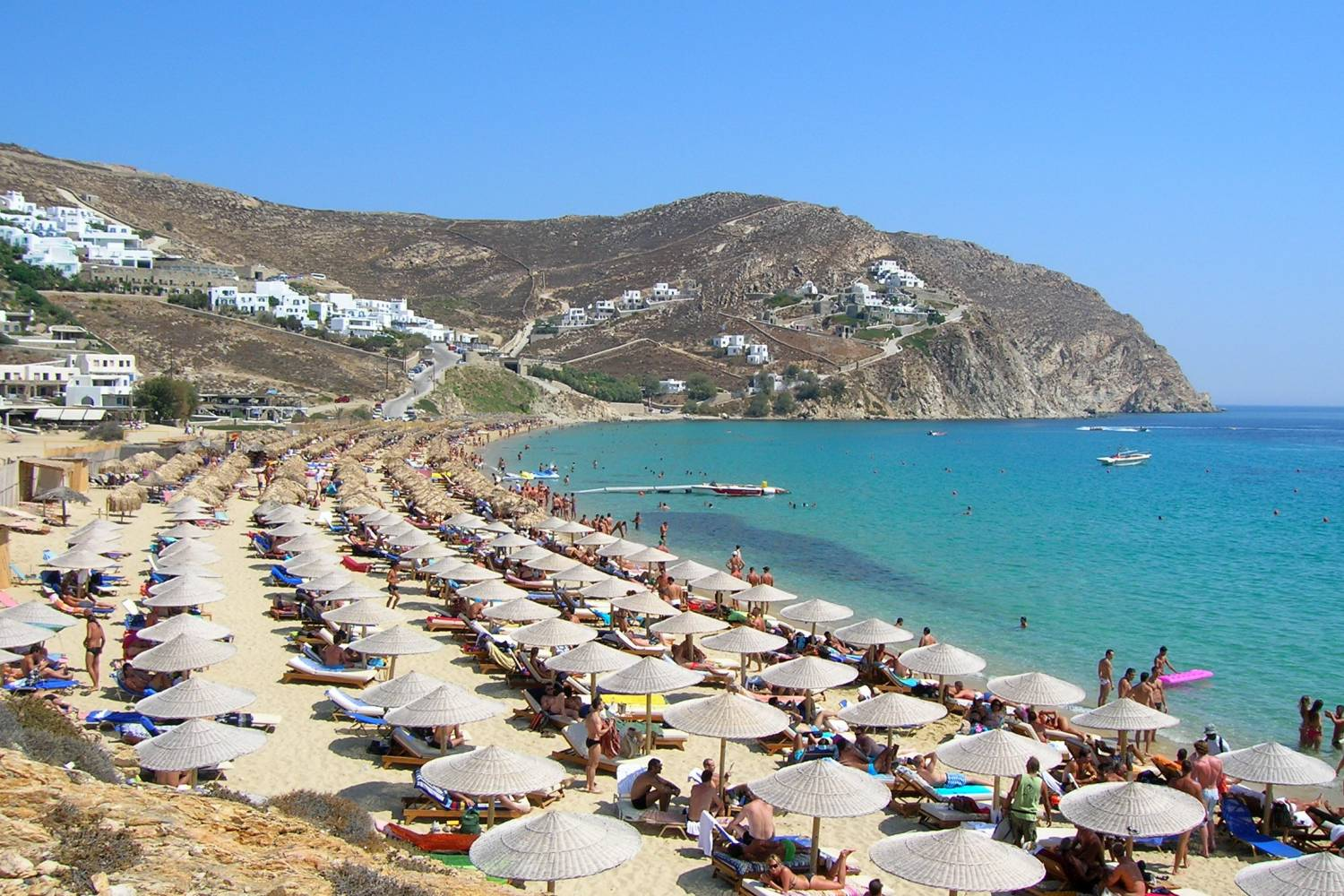 Areal view of Panormos beach - Take a Chef