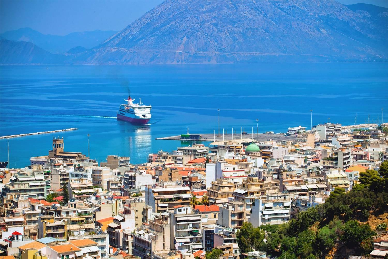 Areal view of Patras - Take a Chef