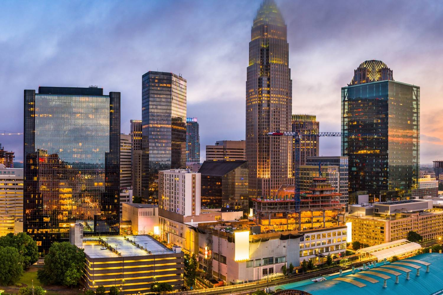 Areal view of Charlotte - Take a Chef