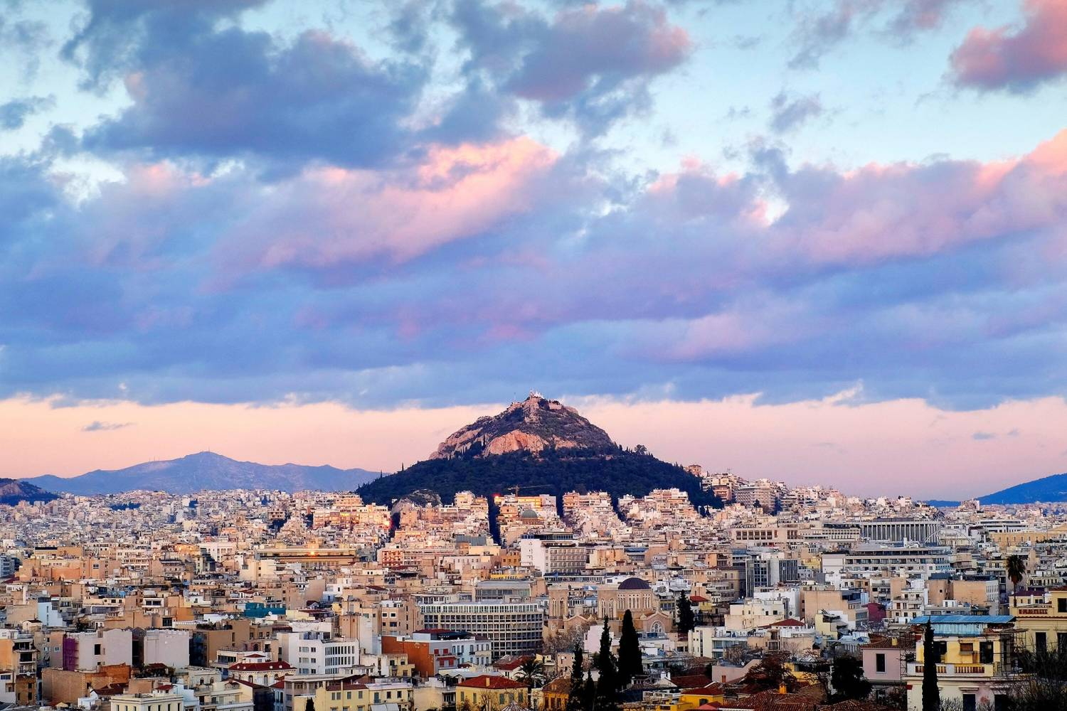 Areal view of Athens - Take a Chef